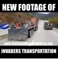 Memes, 🤖, and Com: NEW FOOTAGE OF  ww.UncleSamsMisqu edchildren.com  INVADERS TRANSPORTATION We are under attack.
