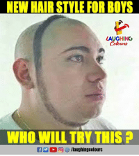 Hair Style: NEW HAIR STYLE FOR BOYS  LAUGHING  Colowrs  WHO WILL TRY THIS A  C2 2回 汐/laughingcolours