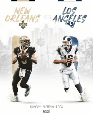 The rematch you've been waiting for.   📺: #NOvsLAR-- TOMORROW at 4:25 pm ET on FOX https://t.co/kuSS2iALBE: NEW  LOS  ORLEANS S ANGELES  Rama  SUNDAY | 4:25PMET I FOX The rematch you've been waiting for.   📺: #NOvsLAR-- TOMORROW at 4:25 pm ET on FOX https://t.co/kuSS2iALBE