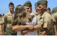New Marines reunite with their loved ones during liberty call at Marine Corps Recruit Depot San Diego. https://t.co/FEpj04ZMoA: New Marines reunite with their loved ones during liberty call at Marine Corps Recruit Depot San Diego. https://t.co/FEpj04ZMoA