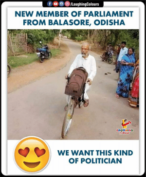 His Simplicity..  #PratapSarangi: NEW MEMBER OF PARLIAMENT  FROM BALASORE, ODISHA  LAUGHING  WE WANT THIS KIND  OF POLITICIAN His Simplicity..  #PratapSarangi