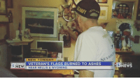 Facebook, Family, and Memes: NEW  NEW TONIGHT  VETERAN'S FLAGS BURNED TO ASHES  NEAR NELLIS & WYOMING  HD  ACTION  NEWS 🇺🇸 U.S. Navy veteran's four flags burned to ashes A 92-year-old veteran is heartbroken after three of his American flags and a U.S. Navy flag were burned to ashes. When he served in World War II, William Barclay was responsible for all messages via the American flag on his ship, the USS Stockdale 👊🏽💀👍🏽 UncleSamsMisguidedChildren 🇺🇸 Check out our store. Link in bio. 🇺🇸 LIKE our Facebook page 🇺🇸 Subscribe to our YouTube Channel 🇺🇸 Visit our website for more News and Information. 🇺🇸 www.UncleSamsMisguidedChildren.com 🇺🇸 Tag and Join our Misguided Family @unclesamsmisguidedchildren USE CODE USMCNATION10 for 10% off our Store. MisguidedLife MisguidedNation USMCNation Apparel ProGun 2A Tactical COP EMT k9 POLICE fireman Gun SemperFi Firefighter FirstResponder USMC navylife oathkeeper NAVY AIRFORCE MILITARY CoastGuard ARMY sailor officer EMS armystrong Firemen