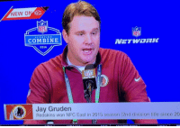 RT @WhatHeLooksLike: Jay Gruden Looks like Frank Caliendo doing Jon Gruden. h-t @darrenrovell: NEW ON S60  SCOUTING  COMBINE  A 2016  Jay Gruden  Redskins won NFC East in 2015 season (2nd division title since 20 RT @WhatHeLooksLike: Jay Gruden Looks like Frank Caliendo doing Jon Gruden. h-t @darrenrovell
