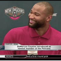 """Repost: @HouseOfHighlights-""""Reporter: """"Just how competitive are you?"""" DeMarcusCousins: """"About 17 technicals worth."""" 😂🤣 WSHH: NEW ORLEANS  llE  COURTESY: WGNO  DeMarcus Cousins introduced as  newest member of the Pelicans  and a first-round pick  ROCKETS Repost: @HouseOfHighlights-""""Reporter: """"Just how competitive are you?"""" DeMarcusCousins: """"About 17 technicals worth."""" 😂🤣 WSHH"""