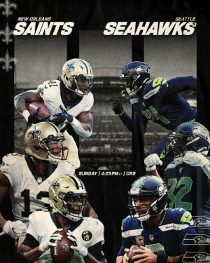 .@Saints @Seahawks You ready for this? 😤  📺: #NOvsSEA -- TOMORROW at 4:25 pm ET on CBS 📱: NFL app // Yahoo Sports app https://t.co/BQt965Ygy8: NEW ORLEANS  SAINTS  SEAHAWKS  SEATTLE  SEAWKS  SUNDAY 4:25PMET CBS  SEAHAS .@Saints @Seahawks You ready for this? 😤  📺: #NOvsSEA -- TOMORROW at 4:25 pm ET on CBS 📱: NFL app // Yahoo Sports app https://t.co/BQt965Ygy8