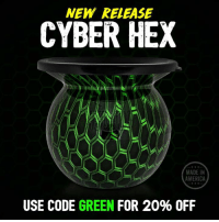 "NEW RELEASE  HEX  MADE IN  AMERICA  USE CODE GREEN  FOR 20% OFF The new Cyber Hex MudJug is available now at MudJug.com! 🤖 Use code ""green"" for 20% off!!"