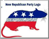 anyone wants to party with rats?: New Republican Party Logo  REPUBLICAN anyone wants to party with rats?
