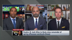 "Memes, Swag, and Spring: NEW RIGHT NOW  Rookie LB Josh Allen to likely miss remainder of  spring offseason workouts (knee) ""They just have to get their overall swag back.""  @NickFoles at the helm. @_fournette ready to roll. The @Jaguars could make a playoff push in 2019... (via @NFLNetwork) https://t.co/ieqj26Sule"