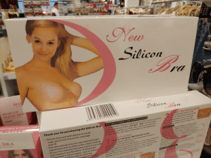 Why did they need to edit the face?: New  Silicon  Bra  MA  BACK  PUSH UP  MAGIC BRA  New  Silicon  Bra  BACKLESS&STRAPLE  6 ll9356 05200019||  C BRA  Thank you for purchasing the Silicon Bra!  INSTRUCTIONS FOR APPLICATION  3.  CONNECT THE FRONT CLOSURE:  Then, with both hands on the  bra cups (see photo) press firmly  for a few seconds to secure the hold.  Now you are ready to enjoy the total  freedom and comfort of your Silicon bra.  STRAPLESS  It is important that you follow all the instructions carefully  prior to wearing UnBra. DO NOT USE moisturizers,  perfumes, powders or other skin care products prior  to use, as this will reduce the effect of the adhesive  Silicon bra cups with adhesive inside  cups, plus front closure for cleavage  and lift  Soft and natural silicone cups that are totally  seemliness and invisible under sheer clothing  Silicon bra instantly becomes a part of you with  SUGGESTIONS:  For a fuller look, wear the UnBra at a higher position  than your breasts, UnBra is designed to be thinner on  the lower portion of the cup so it can blend with your  breast without showing its edges. Therefore, it is normal  if UnBra does not cover your entire breasts (diagram A).  To create cleavage, place your UnBra farther away from  each other, so when the front closure is closed securely  this will tighten the breast to create that ultimate  cleavage you're looking for.  1.  CLEAN YOUR SKIN:  THIS IS THE MOST IMPORTANT STEP.  For a better adhesion, we recommend that you  total freedom and flexibility of movement  Gilicon bra is easy to apply, easy to remove  nteed to stay on securely  ollewed carefully)  rAusable  use SKin-Pre protective wipes.  Clean your skin prior to wearing Silicon bra. Skin-Prep will  form a protective coating that will ensure the adhesion  of the Silicon bra adhesive to the skin. Also, by using this  special Skin Prep (sold separately), you can extend  the life of your Silicon bra adhesive.  Note: if you are not satisfied with the results and must reposition the bra, peel off  the bra gently and reapply Too many altempts will reduce the effectiveness of the  adhesive. Ir this happes simply wash ihe bra cups and let air dry before reaaplying  CORRECT  HOW TO REMOVE UNBRA:  Take your time, detach the front closure first, then  gently peel off the bra starting from the top and gradually  downward. If any adhesive residue remains on the skin after  removal, simply wipe skin with a seft lissue to remove.  CLEANING  Just use mild soap annd water  CE ONE SIDE ON ATA TIME:  f the mirror  NCORRECT  Thle forany damages mcidental consequential or oiherwie resulting from the use of  tan to the in etractions for applieation and e elforth above By  brceleasing of any legal liability resutinan ach use Liabeity  SHION  EWEAR  AN400 Prolaction Why did they need to edit the face?