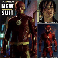 Emo, Future, and Lol: NEW  SUIT  FUTURE BARRY  IG I DOC. MARVEL. NITE BARRY FINALLY GOT A NEW SUIT…Atleast…Future Barry Did. 😱⚡️ When TheFlash Returns in a Month…The Next Episode is going to be insane. BarryAllen meets His Future…Emo Self ? 🤔 Lol he's rockin that SpiderMan 3 Peter Parker Hair. 😂👏🏽 I dig it. But Hopefully we get a Better Look at This Costume, Because Damn that is a Nice ComicAccurate Upgrade. 😍 Comment Below what you Think of our First Look at FutureFlash's New Suit and what you Thought of Tonight's Episode of The Flash ! TheFlashSeason3 (This is not a Spoiler Free Account) DCTV