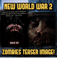 "New WWII zombies teaser image!😍 Confirms that Zombies will be revealed at Comic-Con🔥- 👥tag a friend👥 ❤️5000 likes?❤️ follow🤖 ⬆️check out the link in my bio⬆️ 🔔turn on post notifications🔔 CoD SledgehammerGames BlackOps3 WorldWar2 Treyarch MWR callofduty InfiniteWarfare MWRemastered ZombiesChronicles Zombies CallofDutyIW InfinityWard PS4 PlayStation WWII xbox XboxOne BF1 BO3 CoD4 Gamer SHGames ModernWarfare Activision Sledgehammer CODWWII Game Gaming CoDReturns: NEW WORLD WAR 2  Prepare for the world reveal of @SHGames  twisted new vision of Call of Duty zombies at  @Comic Con."" - Call of Duty  JULY 20  ZOMBIES TEASER IMAGE! New WWII zombies teaser image!😍 Confirms that Zombies will be revealed at Comic-Con🔥- 👥tag a friend👥 ❤️5000 likes?❤️ follow🤖 ⬆️check out the link in my bio⬆️ 🔔turn on post notifications🔔 CoD SledgehammerGames BlackOps3 WorldWar2 Treyarch MWR callofduty InfiniteWarfare MWRemastered ZombiesChronicles Zombies CallofDutyIW InfinityWard PS4 PlayStation WWII xbox XboxOne BF1 BO3 CoD4 Gamer SHGames ModernWarfare Activision Sledgehammer CODWWII Game Gaming CoDReturns"