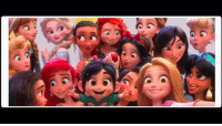 "Bear, Cake, and What Is: New Wreck It Ralph trailer has Merida speaking Scots/Gaelic. I think it's something like ""I gave my mother a cake, she turned into a big bear, my father tried to drown her, and if that's not pure mess I don't know what is""."
