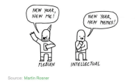 """Martin, Memes, and New Year's: NEW YEAR,  NEW ME!  NEW YEAR,  NEW MEMEs!  PLEBIAN  INTELLECTUAL  Source: Martin Rosner <p>New year, new memes! via /r/memes <a href=""""http://ift.tt/2ChcfEx"""">http://ift.tt/2ChcfEx</a></p>"""