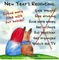 Wishing you a Happy New Year with the hope that you will have many blessings in the year to come x  Red and Howling: New Year's Resolutions:  Spend more  ose weigh  time with  Stop drin  fur babies  Save mpre  ney  Get y shape  Eat healthier  Get organized  atch les TV  ORedand Howling  facebook.com/adoptapetcom Wishing you a Happy New Year with the hope that you will have many blessings in the year to come x  Red and Howling