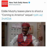 """Coming To America 2? Would you watch it? 🤔 https://t.co/bYPn2YH5WQ: New York Daily News  DAILY  NEWS  @NY aily News  Eddie Murphy teases plans to shoot a  """"Coming to America"""" sequel  nydn.us/  2nzKDzk Coming To America 2? Would you watch it? 🤔 https://t.co/bYPn2YH5WQ"""