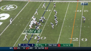 Memes, New York, and Nfl: NEW YORK  DETS  NFL  1ST&10  :05  ALL ON NYJ8  DAL  3  (3-2)  gNYJ  NFL ATL  2ND 3:46 5  (0-4)  10  1ST & 10  ARZ  20 HALFTIME The longest TD from scrimmage this season.  Sam Darnold & @youngamazing9 #TakeFlight for 92 yards! 🛩 #DALvsNYJ  📺: CBS 📱: NFL app // Yahoo Sports app Watch free on mobile: https://t.co/xLc7ljuEnj https://t.co/jzGih5GRi3