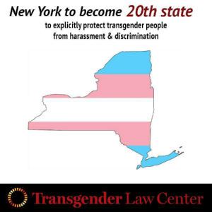 """originalplumbing:  """"Transgender Law Center applauds Governor Cuomo for taking this action to ensure transgender New Yorkers can live safely and freely as their authentic selves,"""" said Kris Hayashi, Executive Director of Transgender Law Center. """"As we've painfully witnessed again and again this year, transgender people face epidemic rates of violence, harassment, and discrimination in this country. Explicit protections based on gender identity and expression, like those New York is adopting and which 19 other states have in place, are a critical part of creating a society where all people can survive and thrive."""" : New York to become 20th state  to explicitly protect transgender people  from harassment & discrimination  Transgender Law Center originalplumbing:  """"Transgender Law Center applauds Governor Cuomo for taking this action to ensure transgender New Yorkers can live safely and freely as their authentic selves,"""" said Kris Hayashi, Executive Director of Transgender Law Center. """"As we've painfully witnessed again and again this year, transgender people face epidemic rates of violence, harassment, and discrimination in this country. Explicit protections based on gender identity and expression, like those New York is adopting and which 19 other states have in place, are a critical part of creating a society where all people can survive and thrive."""""""