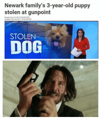 Oh hell no. Time to go all John Wick up in here 😬: Newark family's 3-year-old puppy  stolen at gunpoint  Posted: Nov 27, 2017 9:53 PM EST  Updated: Nov 28, 2017 10:58 AM EST  DOG  STOLEN Oh hell no. Time to go all John Wick up in here 😬