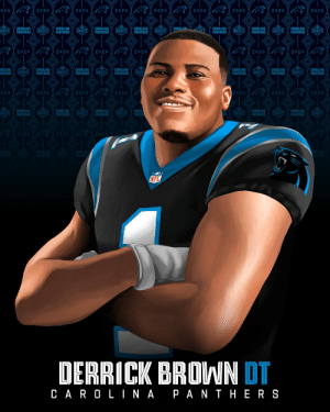 Newest addition to the @Panthers defensive line...   @AuburnFootball DT @DerrickBrownAU5! #NFLDraft https://t.co/bRVJhSaL5r: Newest addition to the @Panthers defensive line...   @AuburnFootball DT @DerrickBrownAU5! #NFLDraft https://t.co/bRVJhSaL5r