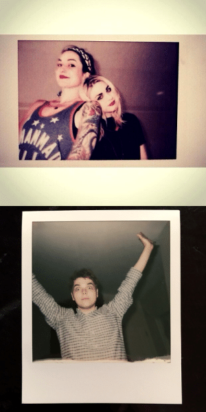 "Beautiful, Best Friend, and Instagram: newger-z: way parents polaroid pictures [shot by bandit]  1. FBC ""Photo cred: beezl. Work it Girl. My best friend is so beautiful @lynzway""2. GW ""Polaroid by Bandit"""