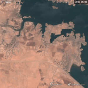 Newly built internally displaced persons camp gets flooded - Arisha, Syria 2019: Newly built internally displaced persons camp gets flooded - Arisha, Syria 2019