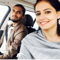 Memes, 🤖, and Mrs: Newly weds Mr. and Mrs. Ishant Sharma click a selfie during their long drive