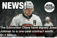 What a steal of a contract! Jokinen had 28 Points last season. Jokinen Panthers Oilers Edmonton Finland NHLDiscussion: NEWS  36  BaUeR  OISCUSSION  FLORIn  The Edmonton Oilers have signed Jussi  Jokinen to a one-year contract worth  $1.1 Million What a steal of a contract! Jokinen had 28 Points last season. Jokinen Panthers Oilers Edmonton Finland NHLDiscussion