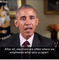"""Memes, Barack Obama, and 🤖: News  After all, elections are often where we  emphasize what sets us apart. """"Thanksgiving reminds us that no matter our differences, we're still one people.""""  Barack Obama gives his final Thanksgiving address to the nation."""