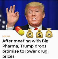 Image result for trump and big pharma