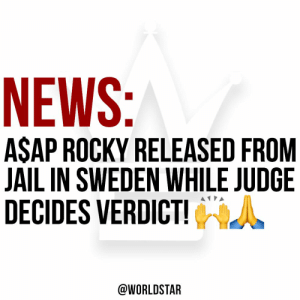 Swedish court has released #ASAPRocky and 2 other suspects from jail until the Judge in their assault case decides the verdict on August 14th! According to a tweet from President Trump, the NYC rapper is en route back to the United States! 🙌🙏 #WelcomeHome @asvpxrocky https://t.co/Hz01SfFQAs: NEWS:  ASAP ROCKY RELEASED FROM  JAIL IN SWEDEN WHILE JUDGE  DECIDES VERDICT!  @WORLDSTAR Swedish court has released #ASAPRocky and 2 other suspects from jail until the Judge in their assault case decides the verdict on August 14th! According to a tweet from President Trump, the NYC rapper is en route back to the United States! 🙌🙏 #WelcomeHome @asvpxrocky https://t.co/Hz01SfFQAs