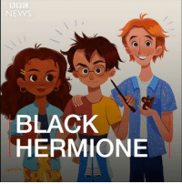 Books, Harry Potter, and Hermione: NEWS  BLACK  BLACKONE 'Why can't Hermione Granger be black?' - An illustrator and Harry Potter fan in Canada, drew Hermione Granger as black, but got a load of backlash as a result. harrypotter jkrowling hermoinegranger bbcnews books literature