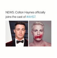 news (for those who didn't know): NEWS: Colton Haynes officially  joins the cast of  news (for those who didn't know)