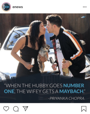 "tupacabra:  theocseason4:  what does this mean  every time he pees she gets a car : NEWS  enews  IFOR  (C  WHEN THE HUBBY GOES NUMBER  ONE, THE WIFEY GETSA MAYBACH.""  -PRIYANKA CHOPRA tupacabra:  theocseason4:  what does this mean  every time he pees she gets a car"