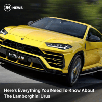 Memes, News, and Lamborghini: ) NEWS  Here's Everything You Need To Know About  The Lamborghini Urus Via @carthrottlenews - Now that the Urus has finally been launched, its spec has been confirmed. We can tell you that it's rather fast, suitably striking and packed to the rafters with Audi-sourced tech