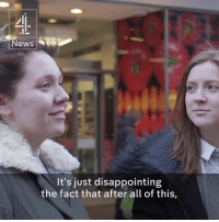 "Disappointed, Memes, and Pro: News  It's just disappointing  the fact that after all of this, As promises from pro-Brexit groups fall through, residents question if they should have voted ""out."" —via Channel 4 News"