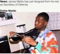 James Mattis: News: James Mattis has just resigned from his role  as Secretary of Defense  Entire World