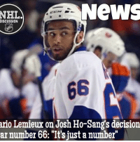 "Memes, 🤖, and Supermario: NeWS  NHLA  DISCUSSION  ario Lemieux on Josh Ho-Sangs decision  ar number 66: ""It's just a number HoSang's decision doesn't seem to have bothered the MagnificentOne Mario SuperMario NHLDiscussion"