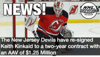 The Devils are primed for another season of a Schneider-Kinkaid duo between the pipes Schneider Kinkaid Devils NewJersey nhldiscussion: NEWS  OSCUSSION  The  New Jersey Devils have re-signed  Keith Kinkaid to a two-year contract with  an AAV of $1.25 Million The Devils are primed for another season of a Schneider-Kinkaid duo between the pipes Schneider Kinkaid Devils NewJersey nhldiscussion