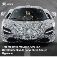 Memes, News, and Images: ) NEWS  WW2  This Modified McLaren 720S Is A  Development Mule For A Three-Seater  Hypercar Via @carthrottlenews - McLaren has released images of a modified 720S which is being used as a development mule for the 'BP23' F1 homage