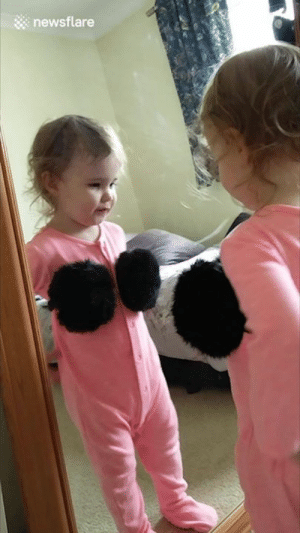 "Mirror, Old, and The Mirror: newsflare ""Caught my 2 year old posing in the mirror with my ear muffs"" 😂😂😂"