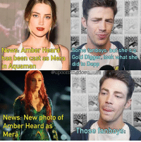 Gold Digger, Memes, and News: Newsg Amber Hea  Some fanboys but  she sa  has been cast as Me  Gold Digger look what she  did  to Depp  in Aguaman  @upcom  News: New photo of  Amber Heard as  Those fanboys  Mera True story. amberheard mera grantgustin dceu dccomics theflash