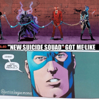 Arrow, Justice, and Justice League: NEWSUICIDESQUAD GOT MEILIKE  GSIGHE  WHO  ARE YOU  PEOPLE...  @justice leaguememes Max Lord, Lobo, and a bunch of random C-listers. ~Green Arrow