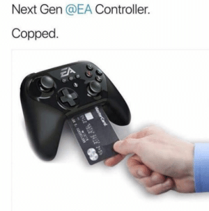 The future is now, old man: Next Gen @EA Controller.  Copped The future is now, old man