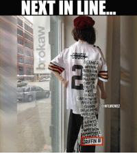 Memes, Nfl, and Browns: NEXT IN LINE  DSTMER  WYNN  PEDERSON  HOLCOMB  DILEER  FRYE  DORS  ANDERSON  GUINN  ONFLMEMEZ  DELHOMME  WALLAC  McCOY  LEWH  GRIFFIN RGIII on the Browns? This should go well... LIKE NFL Memes!