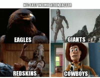 NFC East...: NFC EAST INTIMIDATION FACTOR  EAGLES  GIANTS  REDSKINS  COWBOYS NFC East...