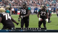Leonard Fournette's a better free throw shooter than Dwight Howard is #INDvsJAX https://t.co/OApkUb0AA6: NFL  9D  78  27,  T O U CH D O W N  NFL  NE 19-2l  9  BUF 16-51  3 3RD 12:13 2nd & 3 45 Leonard Fournette's a better free throw shooter than Dwight Howard is #INDvsJAX https://t.co/OApkUb0AA6