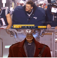 Nfl, Super Mario, and Super Mario Bros: NFL  AFC CHAMP  @NFL MEMES  1 TD ON LAST 20 DRIVES THIS POSTSEASON  o PIT O  NE 10 1ST 2:41  19 1ST & 10 Tom Brady out here looking like Goomba from the Super Mario Bros movie (Javi Lapizco)