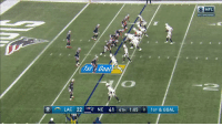 Memes, Nfl, and Patriotic: NFL  AFC DIVISIONAL  1st i Goal  , LAC 22 -er NE 41 4TH 1:05 8|1ST & GOAL Rivers to Gates for the TD ⚡️  Patriots lead 41-28 with under a minute left. #NFLPlayoffs https://t.co/HyI8aDOCJA