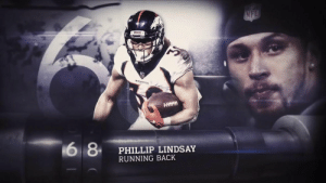 "Confidence, Memes, and Nfl: NFL  BRONCOS  BRONCOS  6 8  PHILLIP LINDSAY  RUNNING BACK ""I don't know what's wrong with this guy, but he's got a lot of confidence in himself.""  The first undrafted rookie EVER on the #NFLTop100, @Broncos RB @I_CU_boy ranks #68! 👏 (via @nflnetwork) https://t.co/Ih2QUOLFN6"