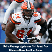 Welcome to Dallas Jonathan Cooper!: NFL  CLEVELAND  Dallas Cowboys sign former First Round Pick  Offensive Guard Jonathan Cooper Welcome to Dallas Jonathan Cooper!